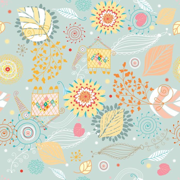 papier peint seamless floral automne pixers nous vivons pour changer. Black Bedroom Furniture Sets. Home Design Ideas