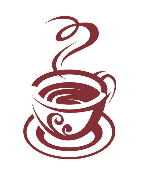 Vinylová Tapeta Coffee cup - Nálepka na stěny