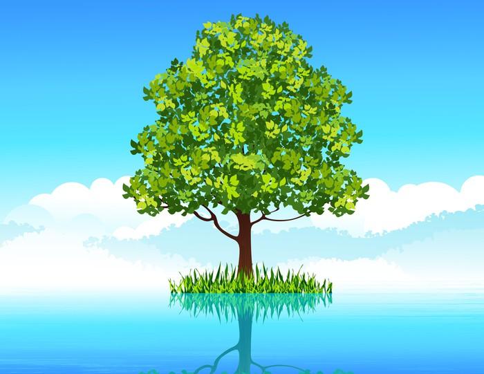 Vinylová Tapeta Strom ve vodě - Stromy