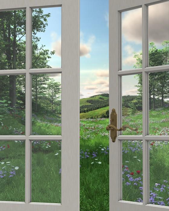 Kitchen Window Drawing: Fototapeta Window View Wieś • Pixers® • Żyjemy By Zmieniać