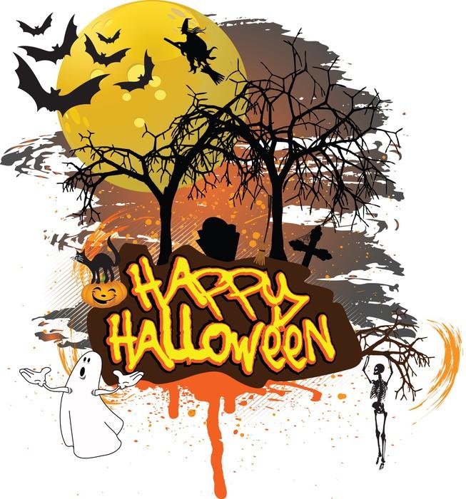 Vinylová Tapeta Happy Halloween - Mezinárodní svátky