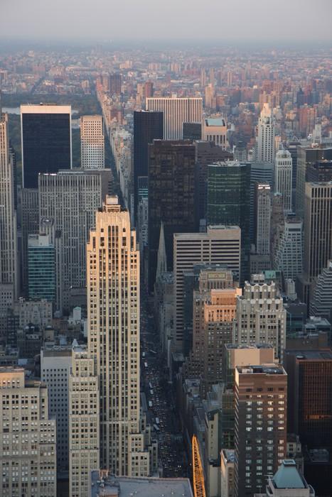 Vinylová Tapeta Letecký pohled na New York - Americká města