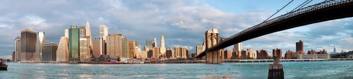 Vinylová Tapeta Manhattan přes řeku brzy ráno - Amerika