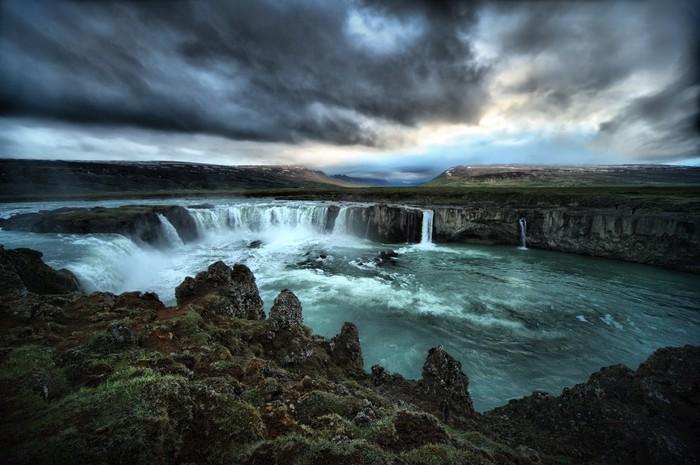 Vinylová Tapeta HDR pohled Godafoss Falls - Přírodní krásy
