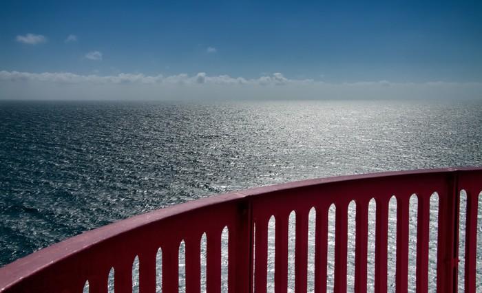Vinylová Tapeta Výhled na oceán s madlem - Infrastruktura