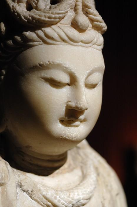Vinylová Tapeta Tvář kamenného Buddhu v Číně - Umění a tvorba