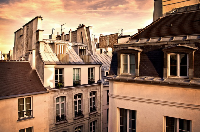 Vinylová Tapeta Toits de Paris - Francie - Evropská města
