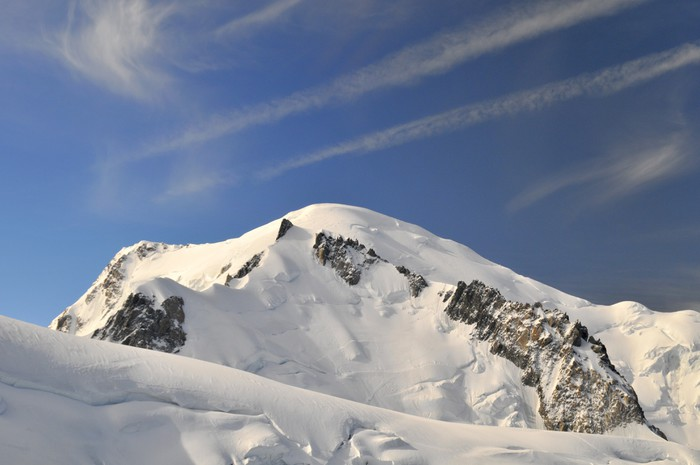 Vinylová Tapeta Vrchol Mont Blanc - Prázdniny
