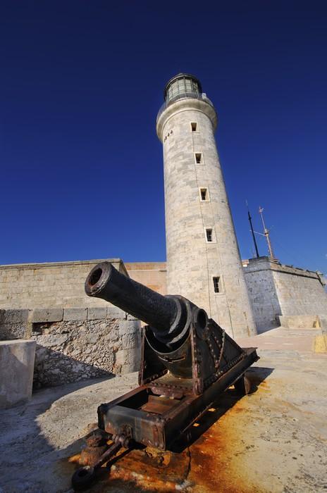 Vinylová Tapeta Španělská pevnost El Morro v Havaně na Kubě - Amerika
