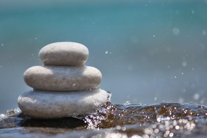 Nálepka Pixerstick Bílé kameny v blízkém - Náboženství