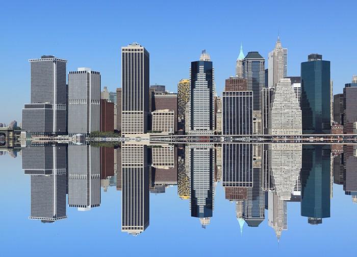 Mural De Parede Em Vinil Lower Manhattan Skyline, New York City   Cidades  Americanas