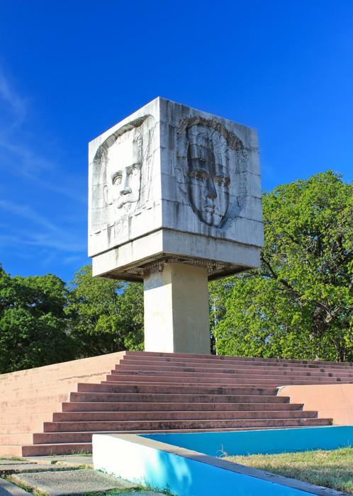 Vinylová Tapeta Jose Marti kašna památka v Santiago de Cuba - Amerika