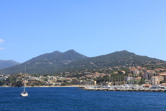 Vinylová Tapeta Port de Propriano na Korsice - Evropa