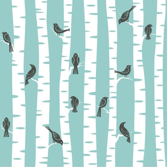 Vinil Duvar Kağıdı Ağaçlar desen - Diğer Diğer