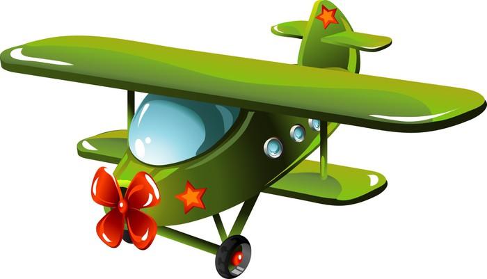 Adesivo cartone animato aereo pixers viviamo per il