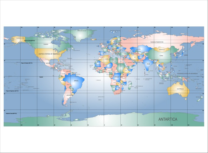 Detailed world map with names of countries vector isolated by g detailed world map with names of countries vector isolated by g pixerstick sticker signs gumiabroncs Image collections