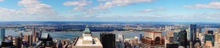 Vinylová fototapeta Panoramatické záběry z New Yorku směrem na západ od Midtown. - Vinylová fototapeta