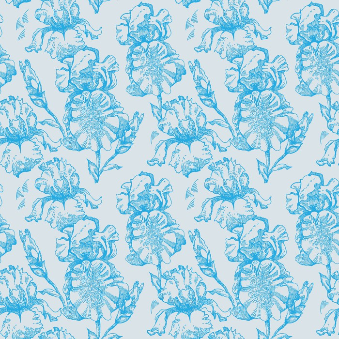 Vinylová Tapeta Květinový vzor bezešvé s iris květinami - Pozadí