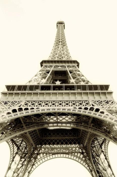 Vinylová Tapeta Eiffelova věž, samostatný - sépie tónovaný - Evropská města