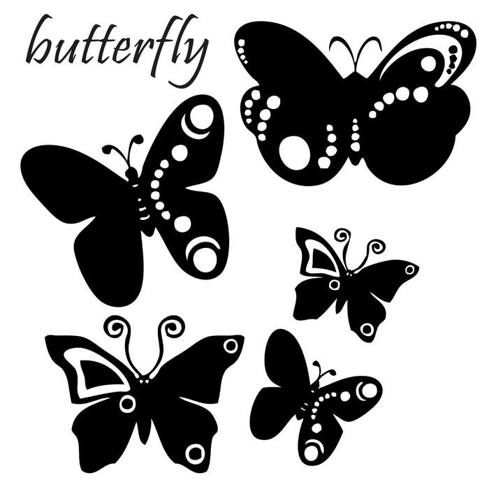 sticker tatouage illustration papillons noir et blanc pixers nous vivons pour changer. Black Bedroom Furniture Sets. Home Design Ideas