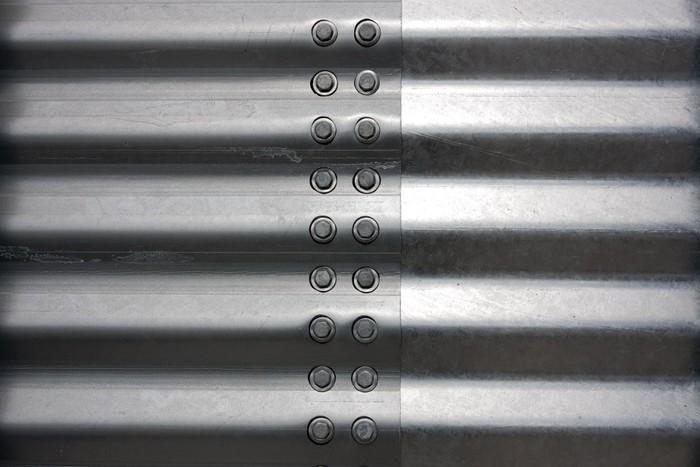 papier peint silo ondul fond en t le d 39 acier pixers nous vivons pour changer. Black Bedroom Furniture Sets. Home Design Ideas