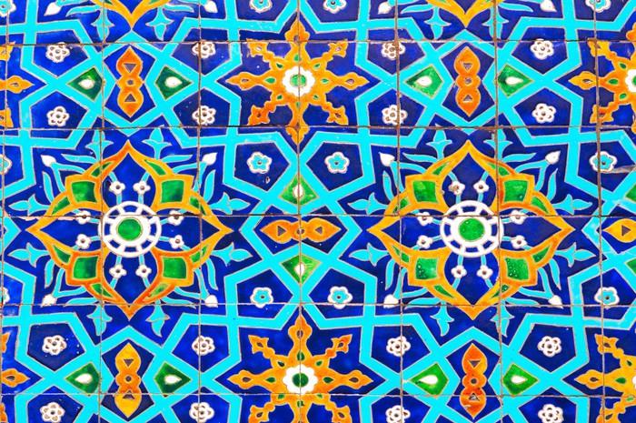 papier peint ornement traditionnel de la c ramique la mosqu e pixers nous vivons pour changer. Black Bedroom Furniture Sets. Home Design Ideas