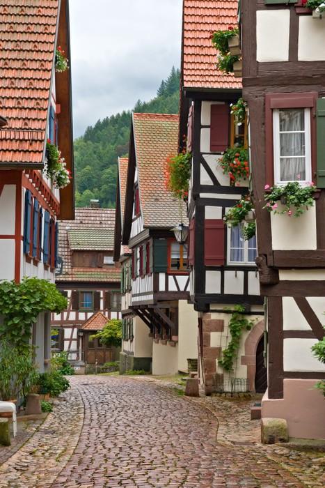 Vinylová Tapeta Obec Schiltachu ve Schwarzwaldu v Německu - Německo