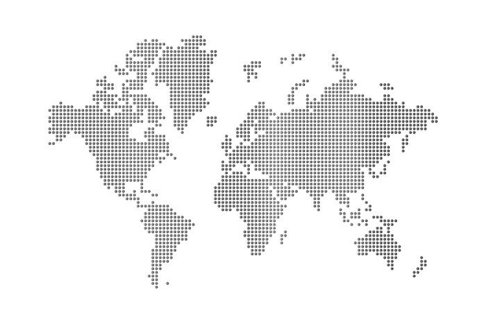 Vinylová Tapeta Tečky mapa světa - Prázdniny