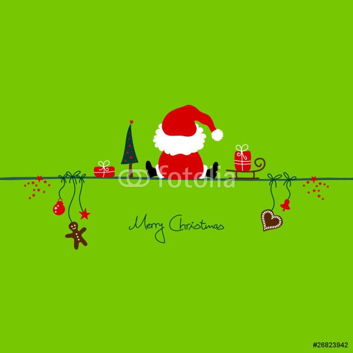 Vinylová Tapeta Vánoční Santa - Mezinárodní svátky