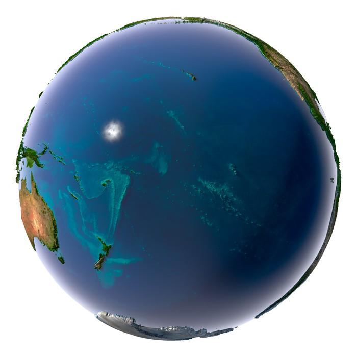 Vinylová fototapeta Realistické Planeta Země s přírodní vodou - Vinylová fototapeta
