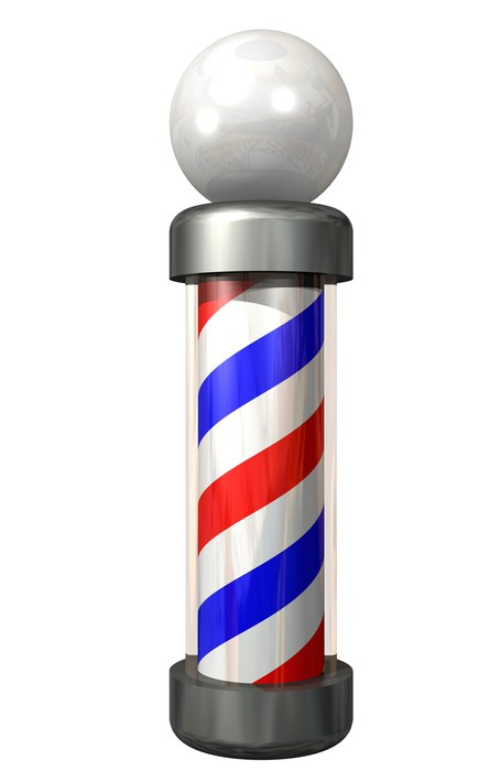 barber pole on white Sticker - Pixerstick - Signs and Symbols
