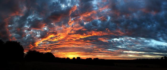 Vinylová Tapeta Oranžova obloha - Nebe