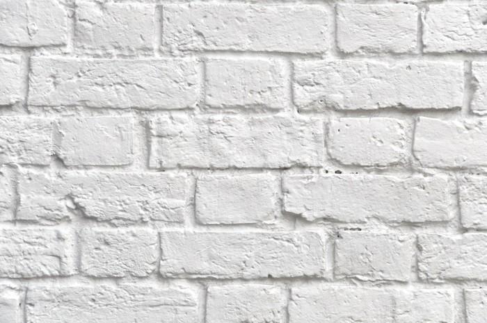 Carta da parati bianco muro di mattoni pixers viviamo for Carta da parati muro di mattoni