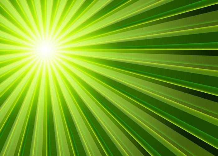 Vinylová fototapeta Pozadí - světelné paprsky Green Black - Vinylová fototapeta