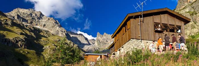 Vinylová Tapeta Les Alpes - Parc national des Ecrins - Refuge de Chaborneou - Evropa