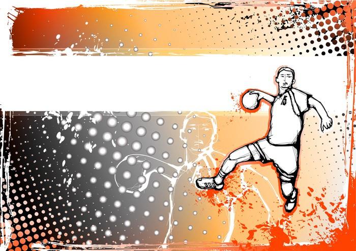 Vinylová Tapeta Oranžová házená pozadí - Týmové sporty