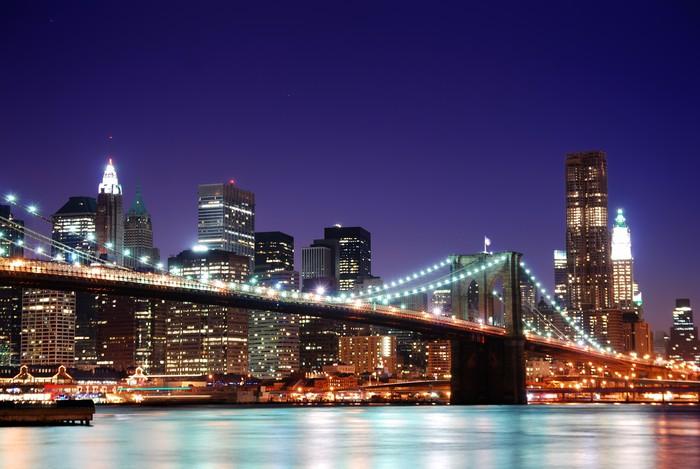 fototapete new york city skyline von manhattan pixers wir leben um zu ver ndern. Black Bedroom Furniture Sets. Home Design Ideas