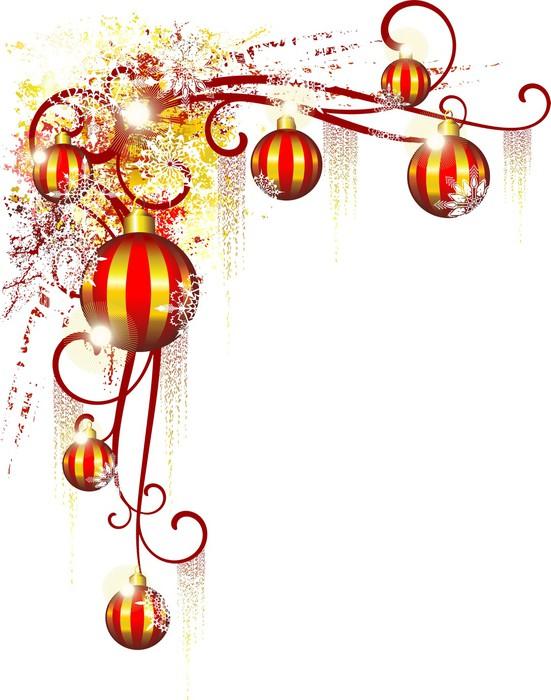 Fototapete weihnachtsdekoration christmas ornamental corner angle seite pixers wir leben - Pferde bordure kinderzimmer ...