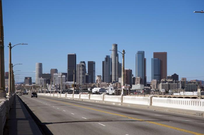 Vinylová Tapeta Downtown Los Angeles - Město