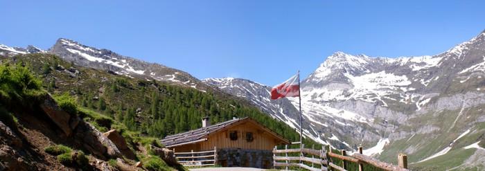 Vinylová Tapeta Bergpanorama in den Ötztaler Alpen - Outdoorové sporty