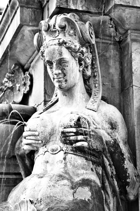 Vinylová Tapeta Kojící Mermaid Statue, Bologna, Itálie - Imaginární zvířata