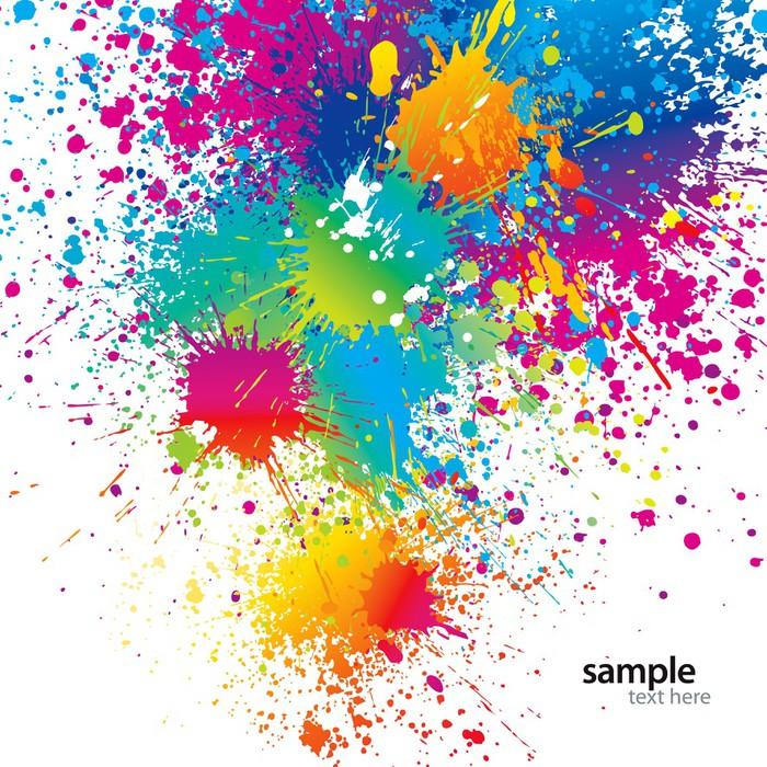Carta da parati sfondo con macchie di colore e spray su for Gama de colores vivos