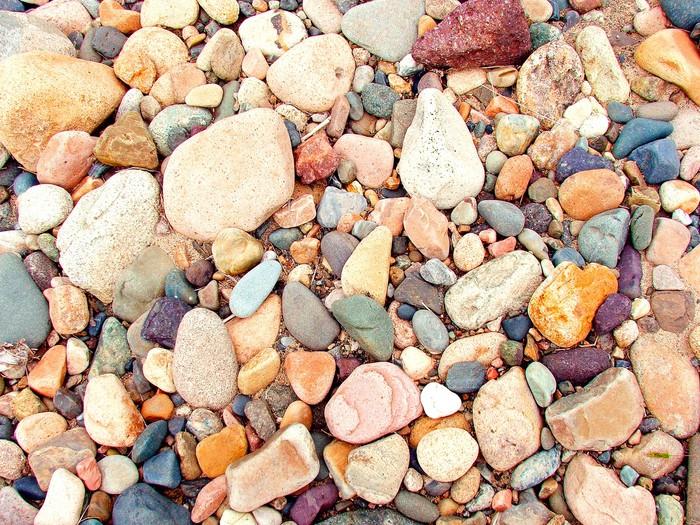Vinylová Tapeta Různobarevné řeky kámen a oblázková - Struktury