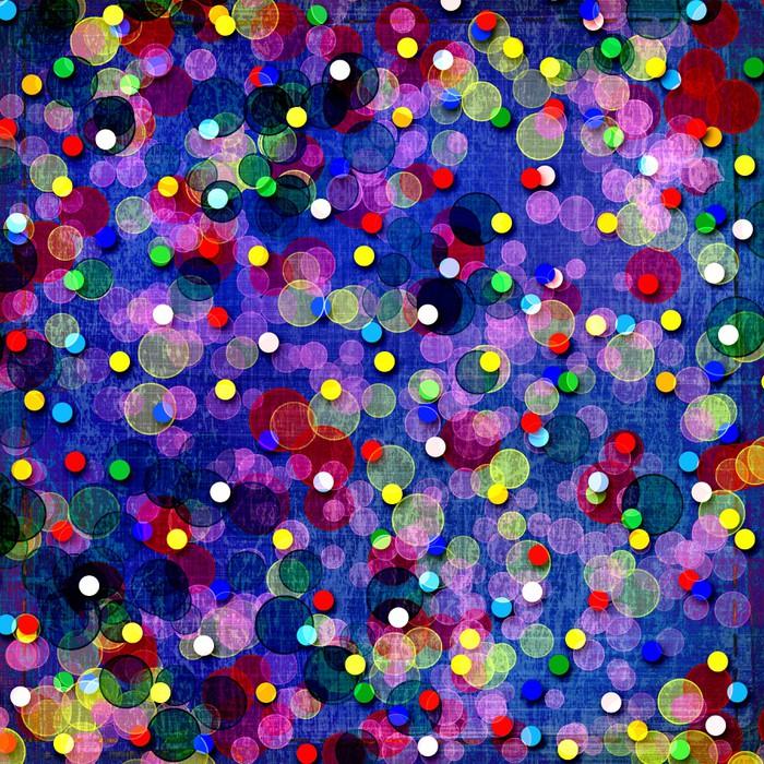 Nálepka Pixerstick Abstraktní vícebarevné pozadí s rozostření bokeh pro design - Mezinárodní svátky