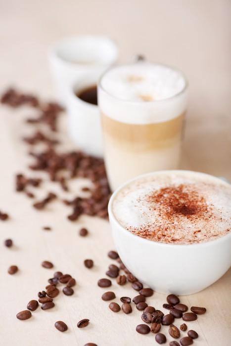 verschiedene sorten kaffeegetränke Wall Mural • Pixers® • We live to ...
