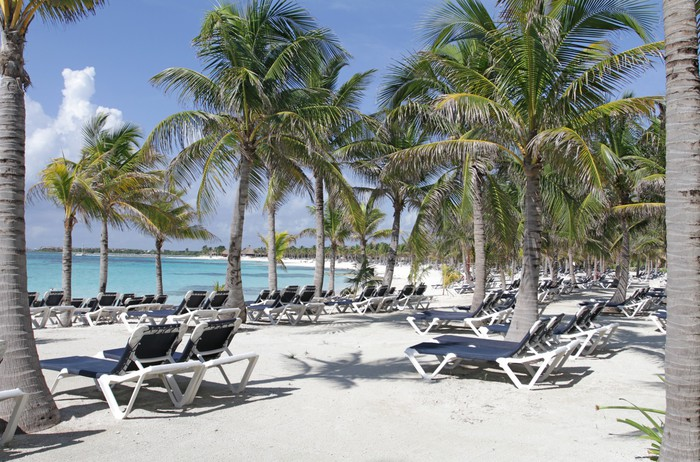 Vinylová Tapeta Riviera Maya Mexico Beach - Voda