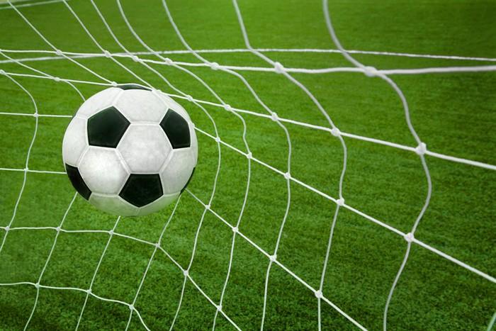 Fototapet Goal. en fotboll i ett nät. • Pixers® - Vi lever för ... 6ab290e96b772