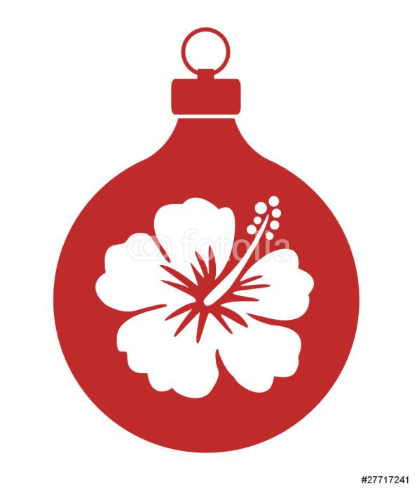 Weihnachtskugel_ Hawaii