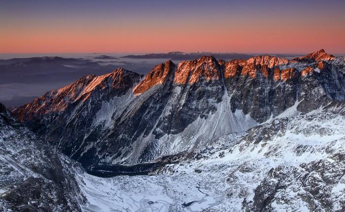 Vinylová Tapeta Krásný východ slunce v Rocky Mountain - Evropa