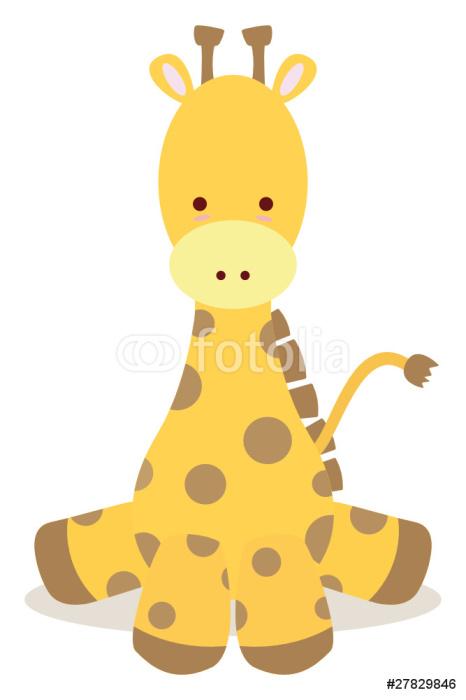 Vinylová Tapeta Mládě žirafy, posaď se jako roztomilý styl - Nálepka na stěny